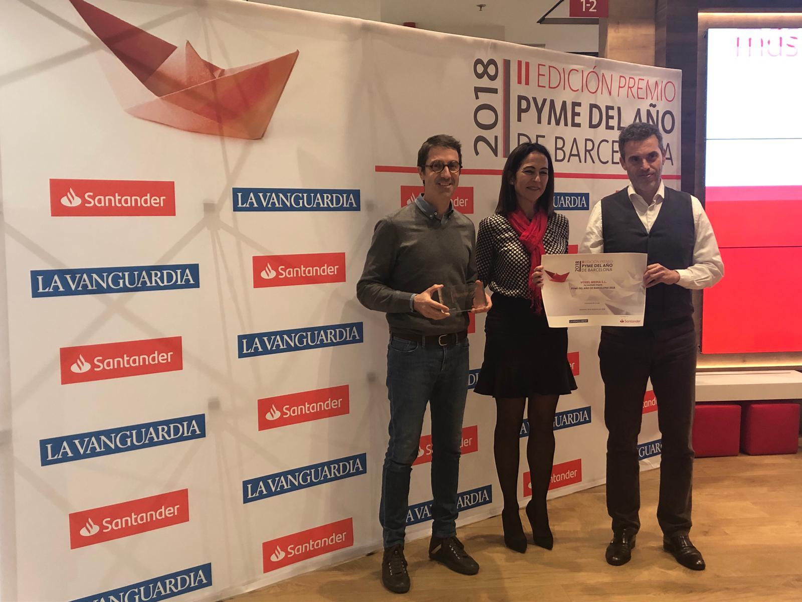 Voxel Group recibe el premio Pyme del año 2018