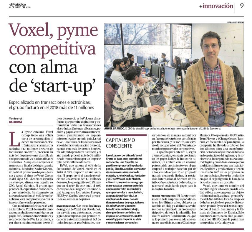 Voxel Group en El Periódico