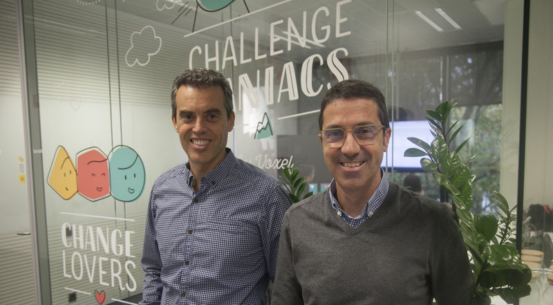 Xavier Ginesta y Àngel Garrido, de Voxel Group