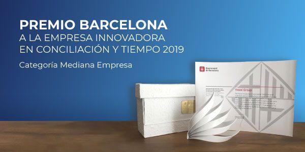 Premio Barcelona Empresa Innovadora en Conciliación y Tiempo 2019.